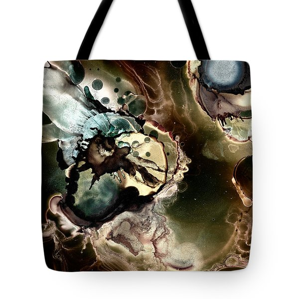 Metallic Nebula Tote Bag