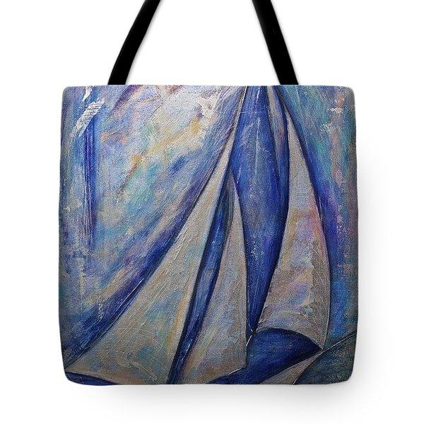 Metallic Seas Tote Bag