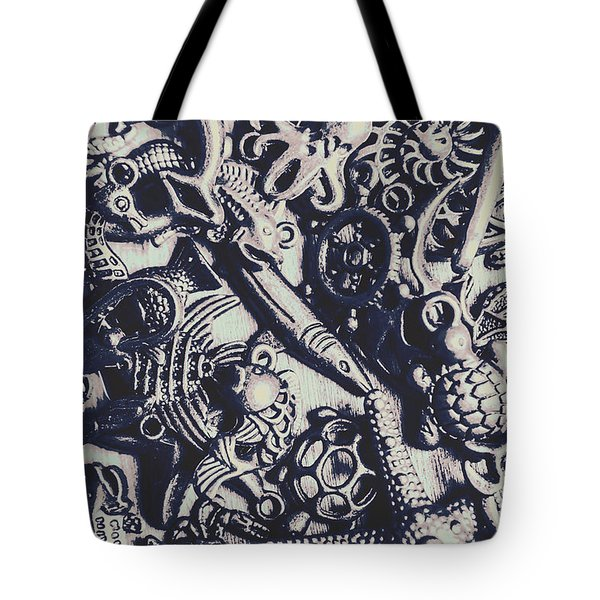 Metallic Seas Tote Bag