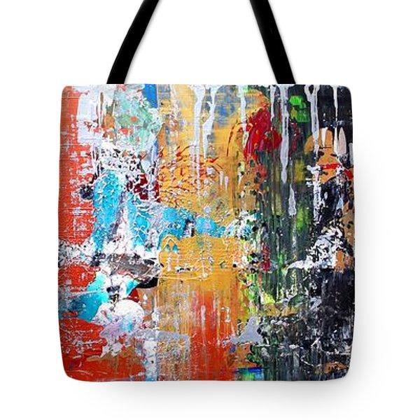 Metallic Winter Tote Bag