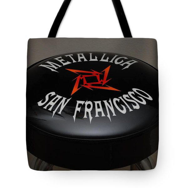 Metallica Bar Stool Tote Bag by Rob Hans