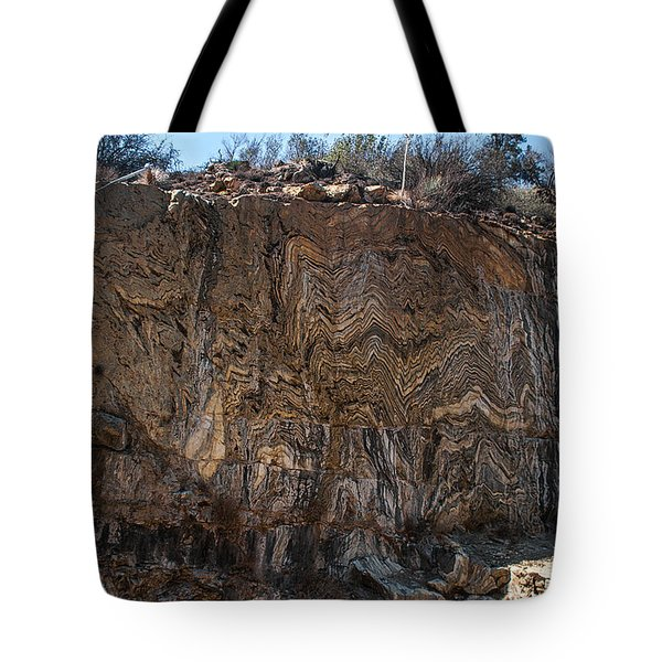 Metamorphic Geologic Wall In Kings Canyon Giant Sequoia National Monument Sequoia National Forest Tote Bag