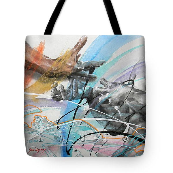 Tote Bag featuring the painting Metamorphosis by J- J- Espinoza