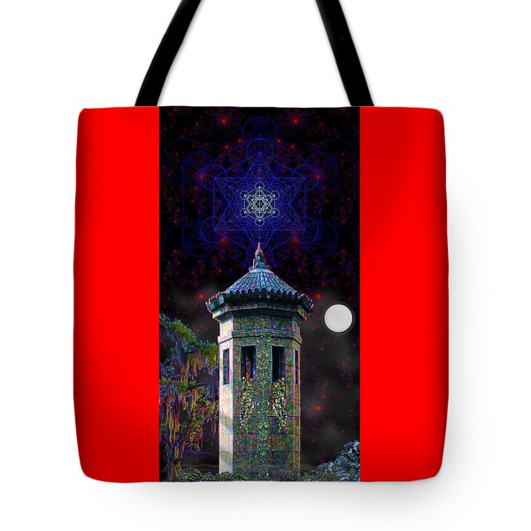 Metatron Nocturnal Tote Bag by Iowan Stone-Flowers