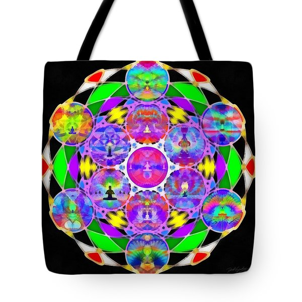 Tote Bag featuring the digital art Metatron's Cosmic Ascension by Derek Gedney