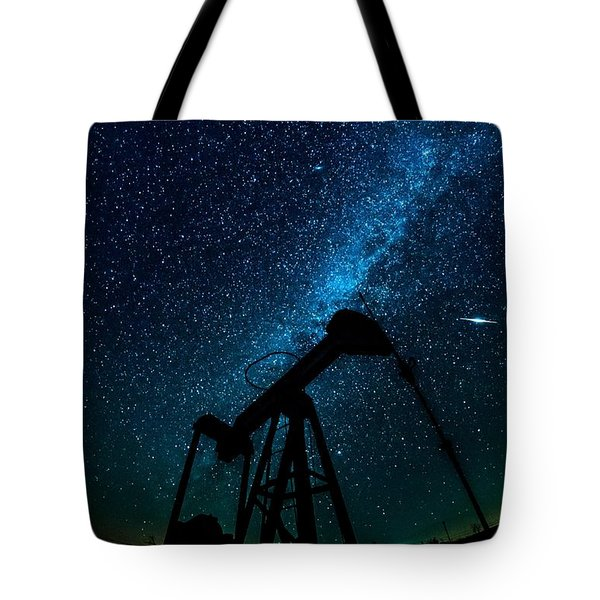 Meteor Above Grasshopper Tote Bag