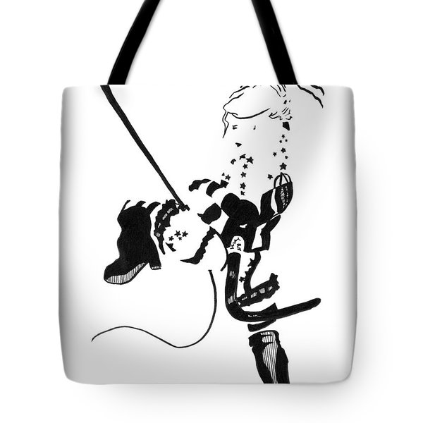 Meteor Mags Kick It Tote Bag by Matthew Howard