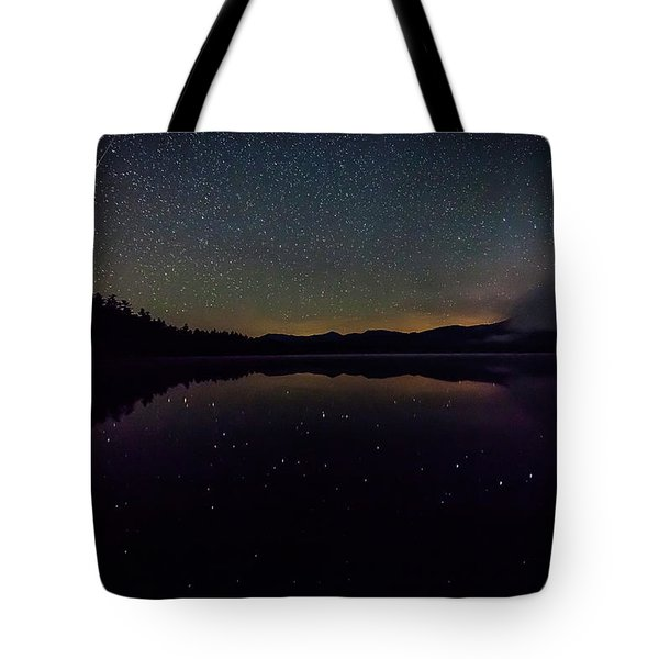 Meteor Over Chocorua Lake Tote Bag
