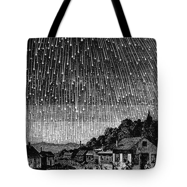 Meteor Shower, 1833 Tote Bag by Granger