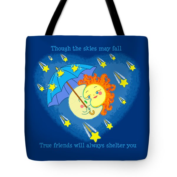 Tote Bag featuring the digital art Meteor Shower 3 by J L Meadows
