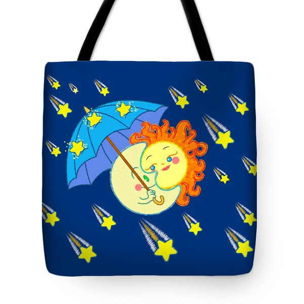 Tote Bag featuring the digital art Meteor Shower by J L Meadows