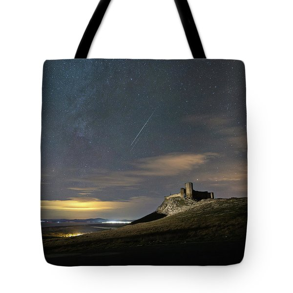 Meteors Above The Fortress Tote Bag