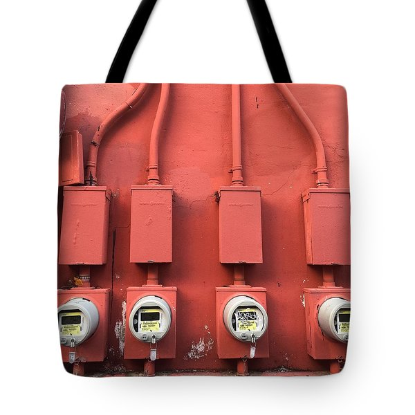Meter Reader Red 2 Tote Bag