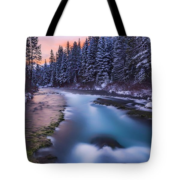 Tote Bag featuring the photograph Metolius Sunset by Cat Connor