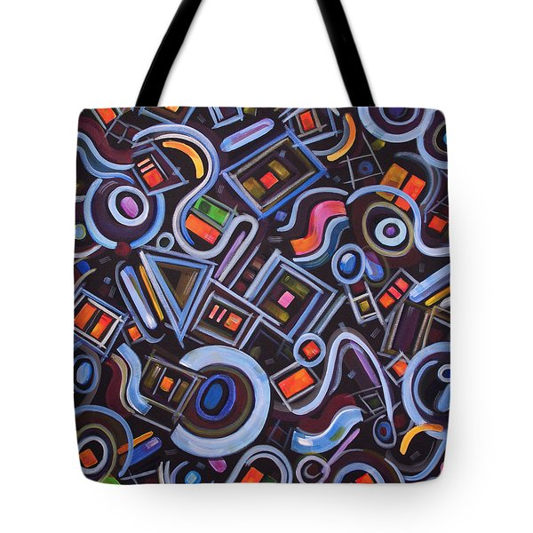 Tote Bag featuring the painting Metrimorphic Lll by Lynda Lehmann