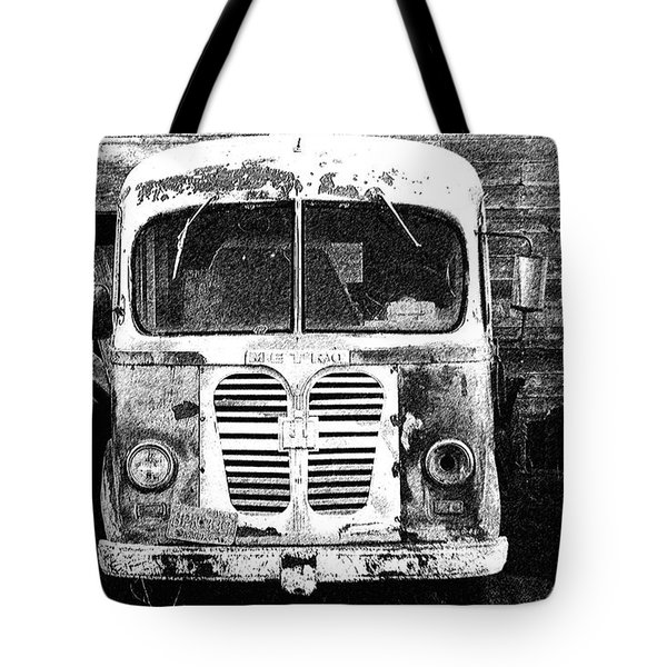Metro Black And White Tote Bag