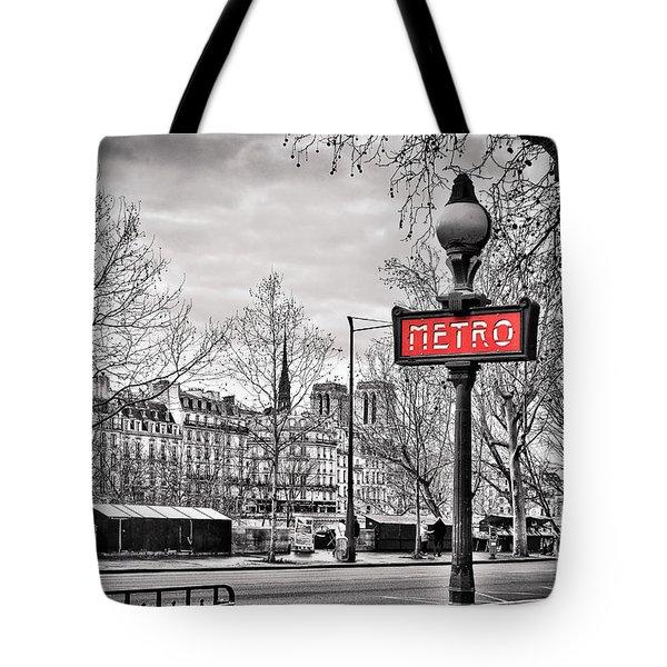 Metro Pont Marie Tote Bag