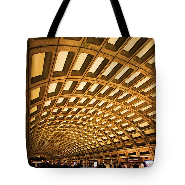 Tote Bag featuring the photograph Metro Station by Mitch Cat