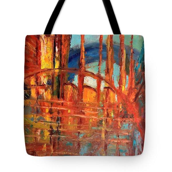 Metropolis In Space Tote Bag