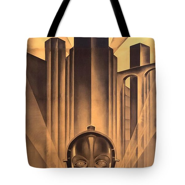 Tote Bag featuring the digital art Metropolis Poster by Chuck Staley