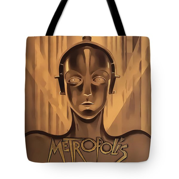 Tote Bag featuring the digital art Metropolis Two by Chuck Staley