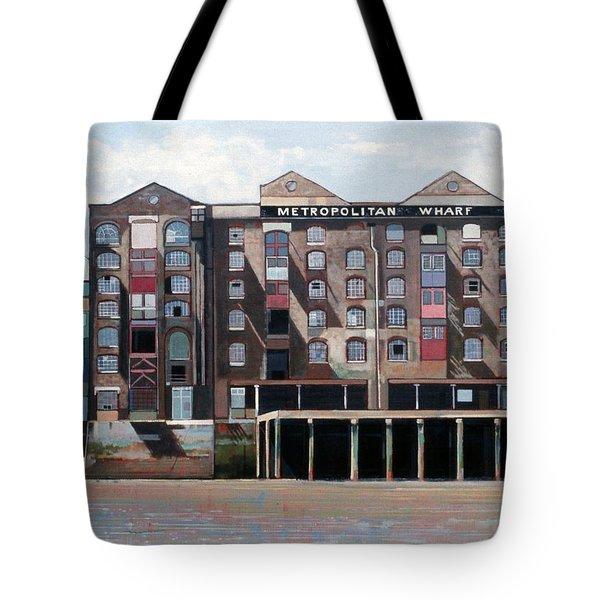 Metropolitan Wharf Tote Bag by Peter Wilson