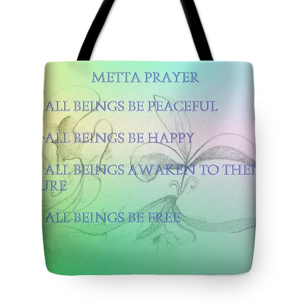 Metta Prayer Tote Bag