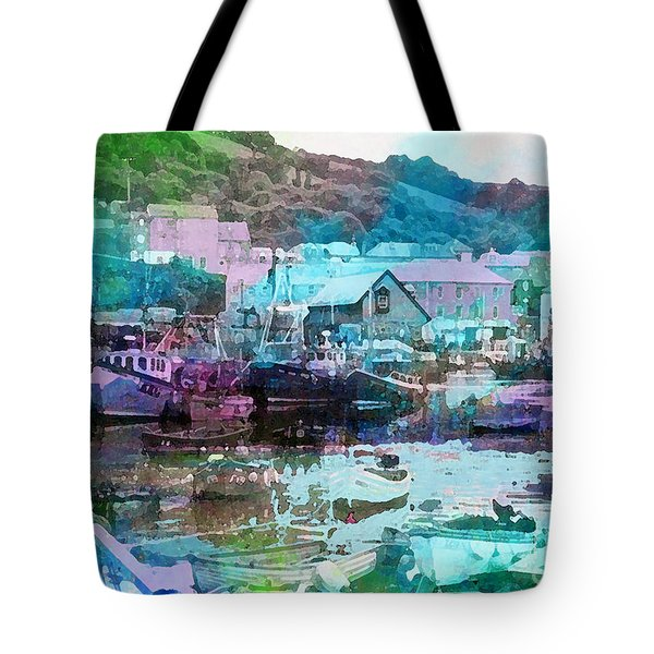 Mevagissey Harbour Tote Bag
