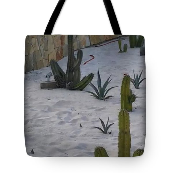 Tote Bag featuring the photograph Mexican Cactus Garden by Cindy Charles Ouellette
