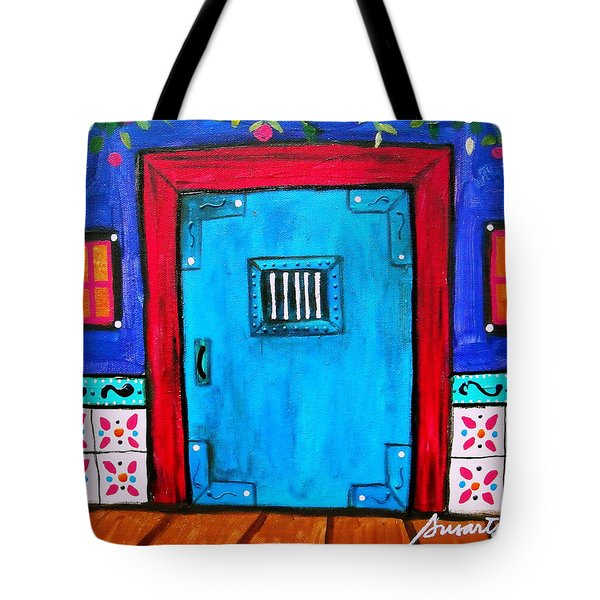 Mexican Door Painting Tote Bag