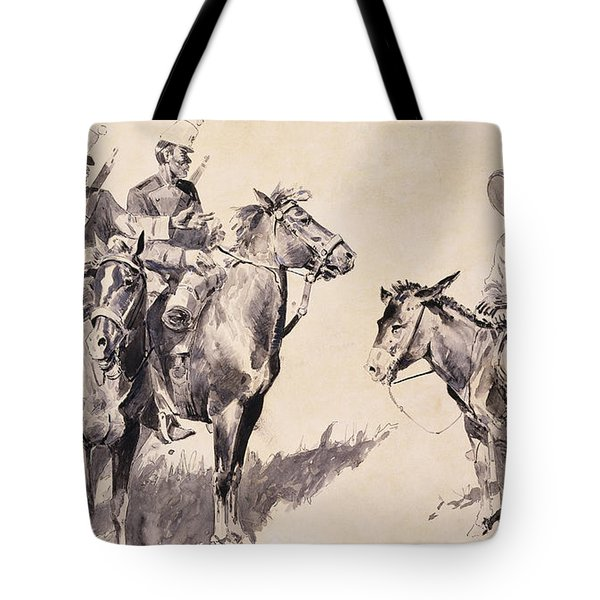 Mexican Gendarmes Asking The Way Tote Bag