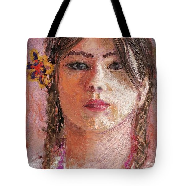 Mexican Girl Tote Bag
