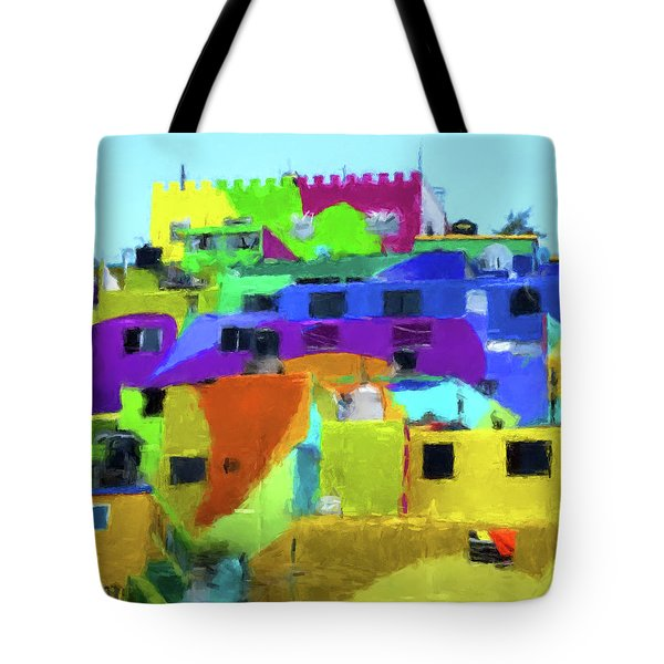 Mexican Homes Tote Bag by Gary Grayson
