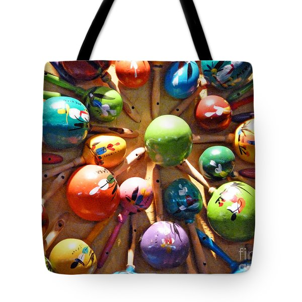 Mexican Maracas Tote Bag by Methune Hively