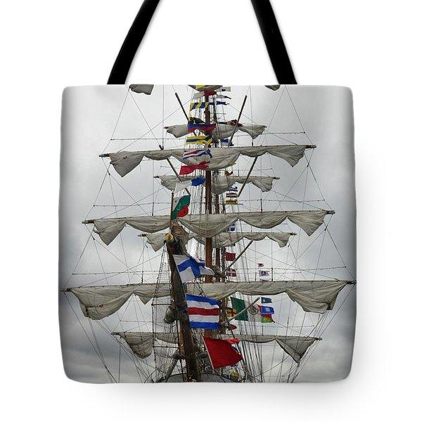 Mexican Navy Ship Tote Bag
