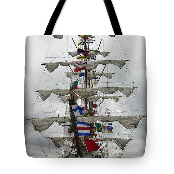 Mexican Navy Ship Tote Bag