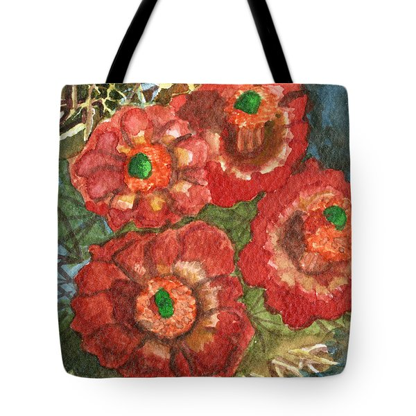 Tote Bag featuring the painting Mexican Pincushion by Eric Samuelson