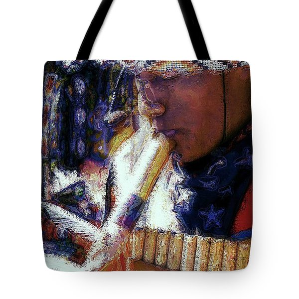 Tote Bag featuring the photograph Mexican Street Musician by Lori Seaman