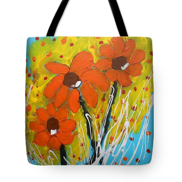 Mexican Sunflowers Flower Garden Tote Bag