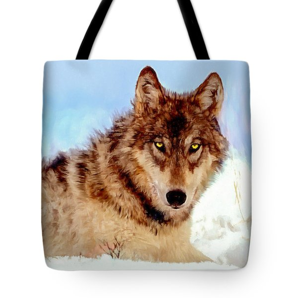 Mexican Wolf Painting Tote Bag