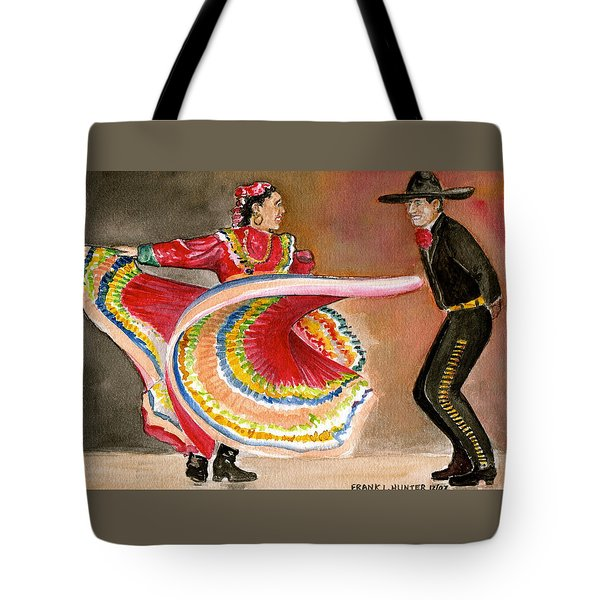 Mexico City Ballet Folklorico Tote Bag by Frank Hunter
