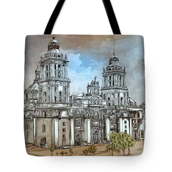 Mexico City Metropolitan Cathedral. Tote Bag