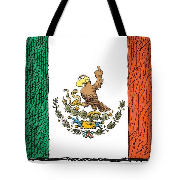 Mexico Flips Bird Tote Bag