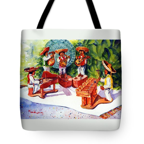 Mexico Mariachis Tote Bag by Estela Robles