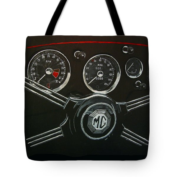 Tote Bag featuring the painting Mga Dash by Richard Le Page