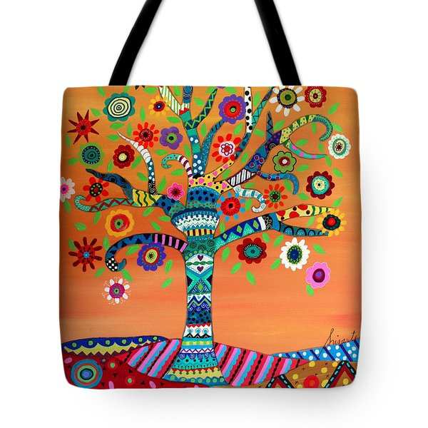 Tote Bag featuring the painting Mhuri by Pristine Cartera Turkus