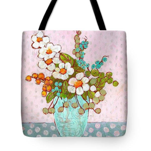 Mia Daisy Flowers Tote Bag
