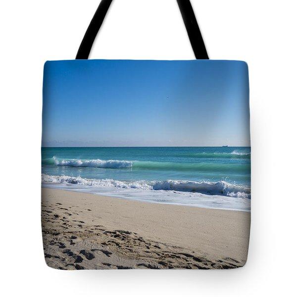 Miami Beach Blue Sky Blue Ocean Tote Bag