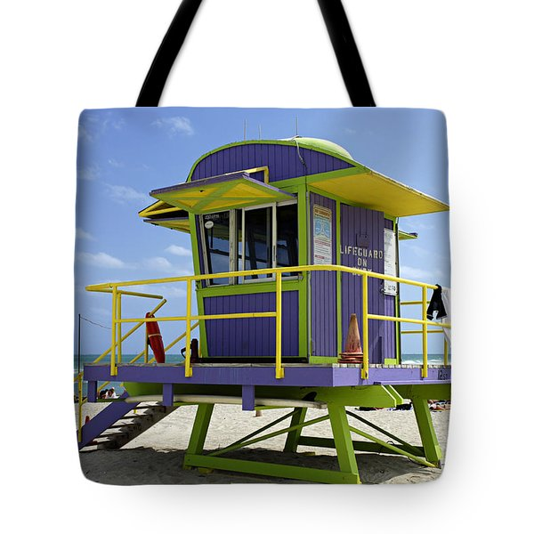 Miami Beach Tote Bag by Bob Christopher