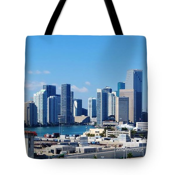 Miami City Scape Tote Bag